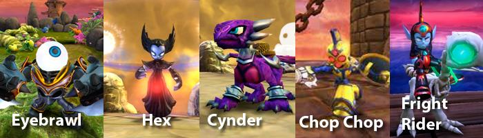 Skylanders Undead Characters