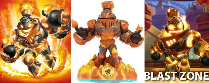 Skylanders Blast Zone Figure